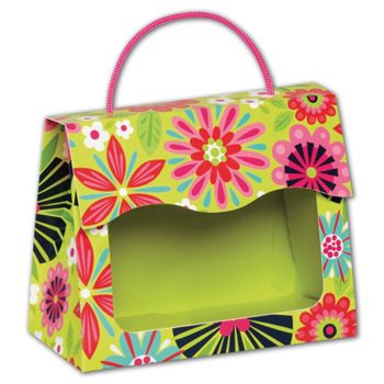 Bountiful Blooms Gourmet Gift Totes, 6 1/2x3 1/4x5 5/16