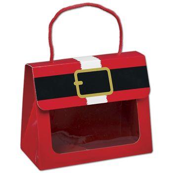 Santa's Belt Gourmet Gift Totes, 6 1/2 x 3 1/4 x 5 5/16