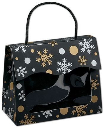 Christmas Elegance Gourmet Gift Totes, 6 1/2x3 1/4x5 5/16