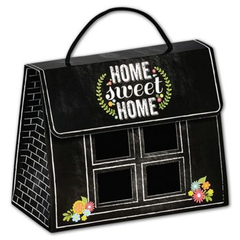 Chalkboard Home Gourmet Gift Totes, 6 1/2x3 1/4x5 5/16