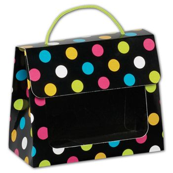 Dazzling Dots Gourmet Gift Totes, 6 1/2 x 3 1/4 x 5 5/16