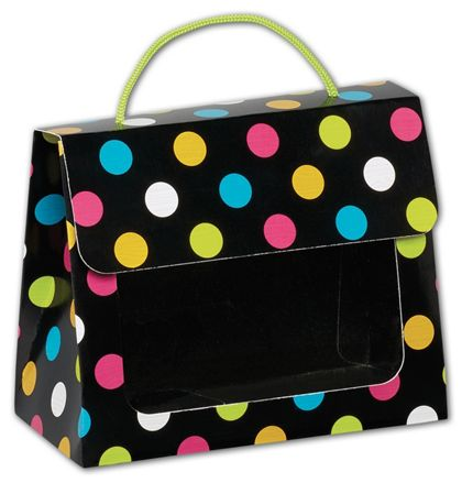 Dazzling Dots Gourmet Gift Totes, 6 1/2 x 3 1/4 x 5 5/16""