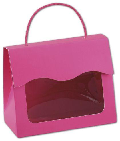 """Fuchsia Gourmet Gift Totes, 6 1/2 x 3 1/4 x 5 5/16"""""""