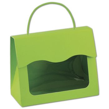 Lime Green Gourmet Gift Totes, 6 1/2 x 3 1/4 x 5 5/16