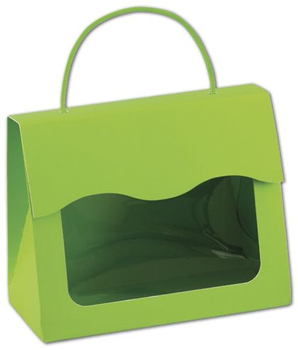 """Lime Green Gourmet Gift Totes, 6 1/2 x 3 1/4 x 5 5/16"""""""