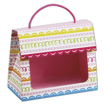"Sweet Swirls Gourmet Gift Totes, 6 1/2 x 3 1/4 x 5 5/16"""