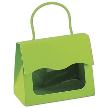 Lime Green Gourmet Gift Totes, 5 1/8 x 2 5/8 x 4 1/4