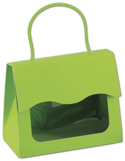 Lime Green Gourmet Gift Totes, 5 1/8 x 2 5/8 x 4 1/4""