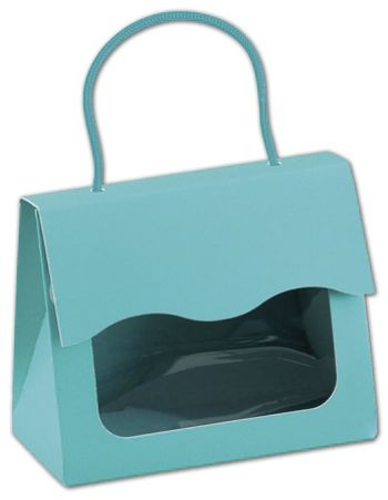 Robin's Egg Blue Gourmet Gift Totes, 5 1/8 x 2 5/8 x 4 1/4