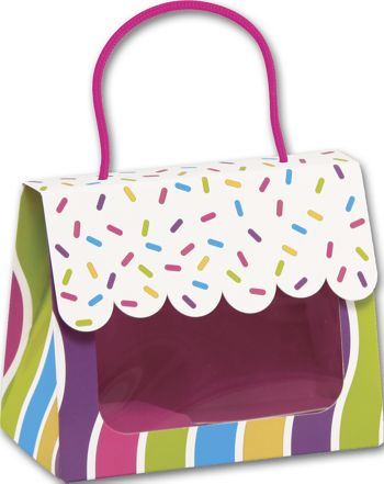Candy Sprinkles Gourmet Gift Totes, 5 1/8 x 2 5/8 x 4 1/4