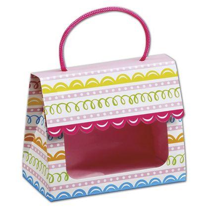 "Sweet Swirls Gourmet Gift Totes, 5 1/8 x 2 5/8 x 4 1/4"""