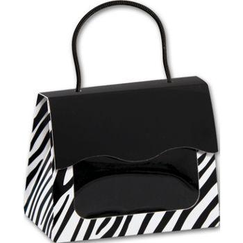Zebra Gourmet Gift Totes, 5 1/8 x 2 5/8 x 4 1/4