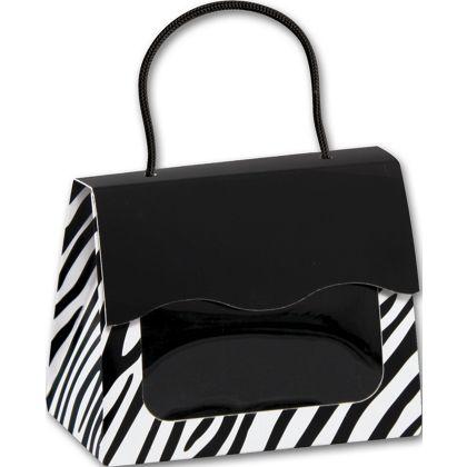"Zebra Gourmet Gift Totes, 5 1/8 x 2 5/8 x 4 1/4"""