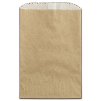 Kraft Grease Resistant Gourmet Bags, 4 3/4 x 6 3/4