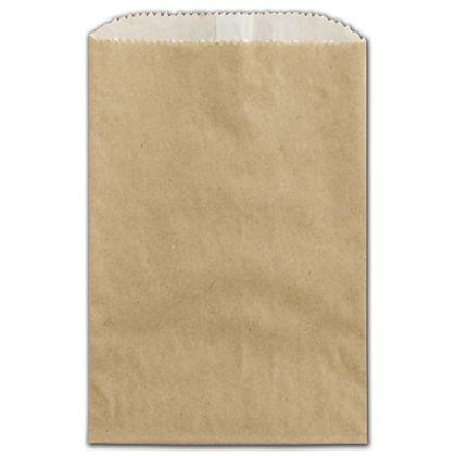 """Kraft Grease Resistant Gourmet Bags, 4 3/4 x 6 3/4"""""""