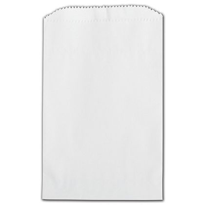 White Grease Resistant Gourmet Bags, 4 3/4 x 6 3/4""