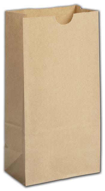 Kraft Grease Resistant SOS Bags, 5 x 3 1/8 x 9 5/8