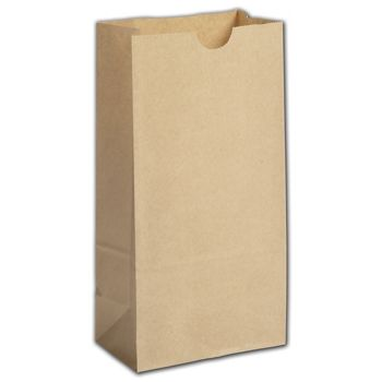 Kraft Grease Resistant SOS Bags, 5 x 3 1/8 x 9 5/8