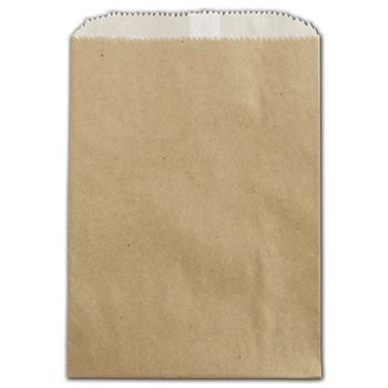Kraft Grease Resistant Gourmet Bags, 5 3/4 x 7 1/2