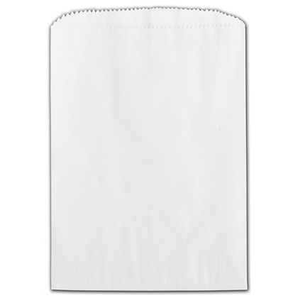 White Grease Resistant Gourmet Bags, 5 3/4 x 7 1/2""