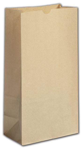 Kraft Grease Resistant SOS Bags, 6 x 3 5/8 x 11 1/16