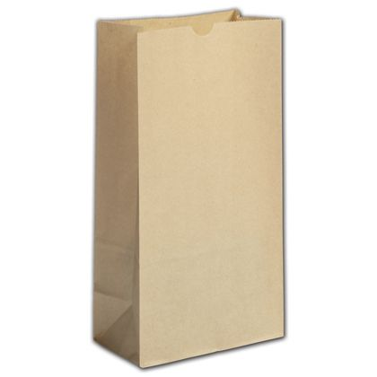 Kraft Grease Resistant SOS Bags, 6 x 3 5/8 x 11 1/16""