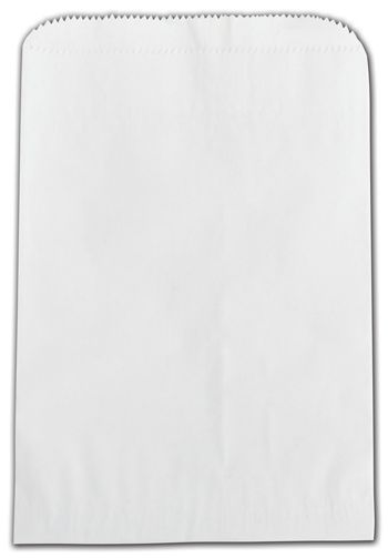 White Grease Resistant Gourmet Bags, 6 3/4 x 9 1/4