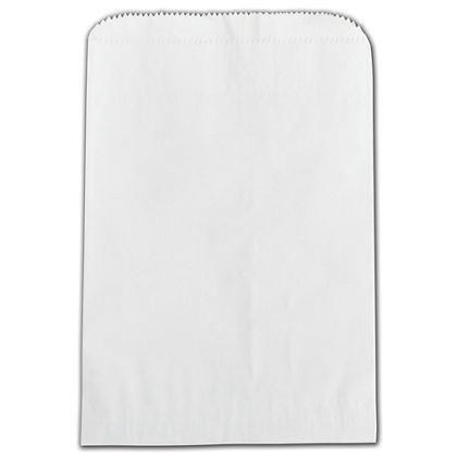 White Grease Resistant Gourmet Bags, 6 3/4 x 9 1/4""