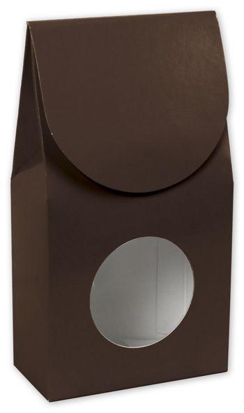 Chocolate Gourmet Window Boxes, 3 1/2 x 1 3/4 x 6 1/2