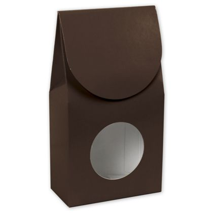 "Chocolate Gourmet Window Boxes, 3 1/2 x 1 3/4 x 6 1/2"""