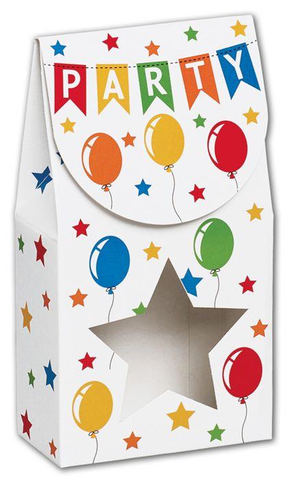 "Birthday Banner Gourmet Window Boxes, 3 1/2x1 3/4x6 1/2"""