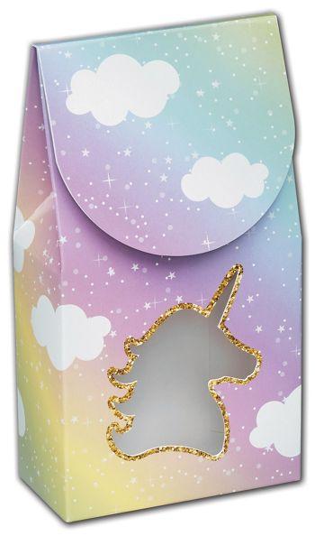 Glitter Unicorn Gourmet Window Boxes, 3 1/2x1 3/4x6 1/2
