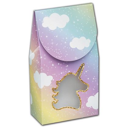 Glitter Unicorn Gourmet Window Boxes, 3 1/2x1 3/4x6 1/2""