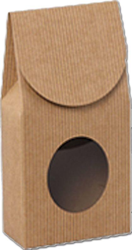 "Kraft Stripes Gourmet Window Boxes, 3 1/2 x 1 3/4 x 6 1/2"""