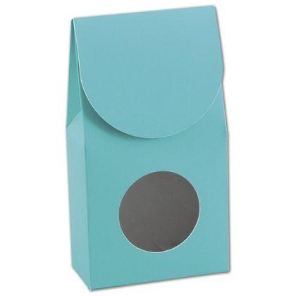 "Robin's Egg Blue Gourmet Window Boxes, 3 1/2x1 3/4x6 1/2"""
