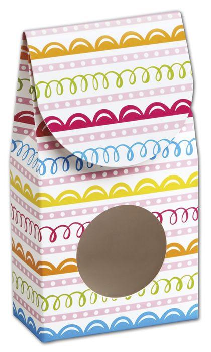 "Sweet Swirls Gourmet Window Boxes, 3 1/2 x 1 3/4 x 6 1/2"""