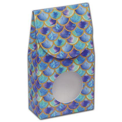 Watercolor Mermaid Gourmet Window Boxes, 3 1/2x1 3/4x6 1/2