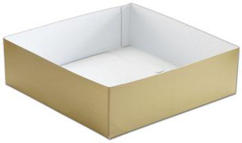 Gold Hi-Wall Gift Box Bottoms, 10 x 10 x 3