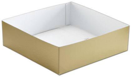 Gold Hi-Wall Gift Box Bottoms, 10 x 10 x 3""