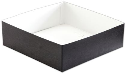 Black Swirl Hi-Wall Gift Box Bottoms, 10 x 10 x 3""