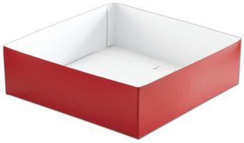 Red Hi-Wall Gift Box Bottoms, 10 x 10 x 3