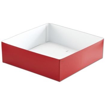 Red Hi-Wall Gift Box Bottoms, 10 x 10 x 3