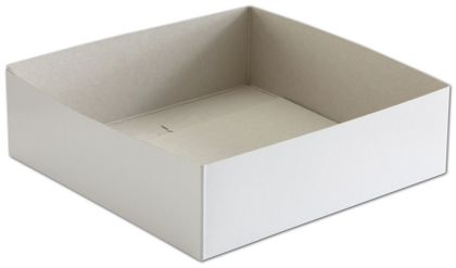 White Hi-Wall Gift Box Bottoms, 10 x 10 x 3""