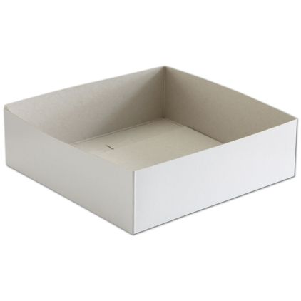 "White Hi-Wall Gift Box Bottoms, 10 x 10 x 3"""