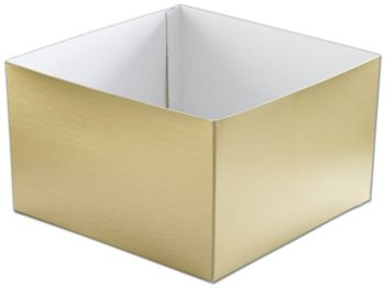 Gold Hi-Wall Gift Box Bottoms, 10 x 10 x 6