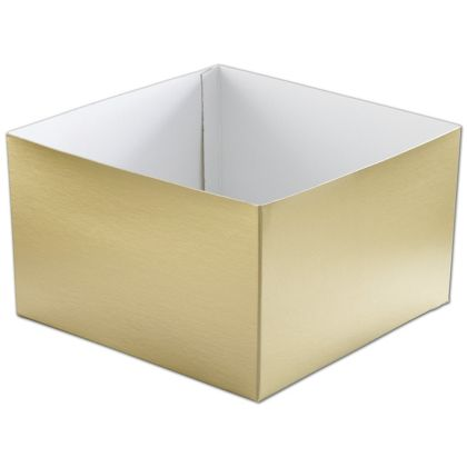 Gold Hi-Wall Gift Box Bottoms, 10 x 10 x 6""