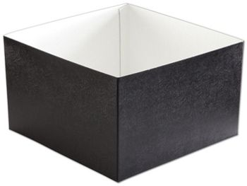 Black Swirl Hi-Wall Gift Box Bottoms, 10 x 10 x 6