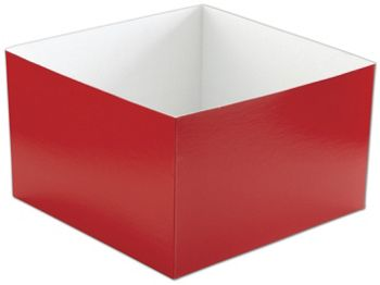 Red Hi-Wall Gift Box Bottoms, 10 x 10 x 6