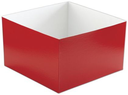 Red Hi-Wall Gift Box Bottoms, 10 x 10 x 6""