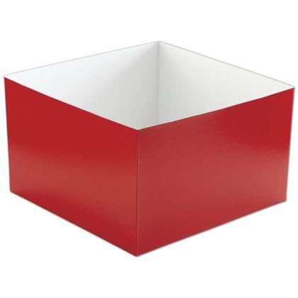 "Red Hi-Wall Gift Box Bottoms, 10 x 10 x 6"""